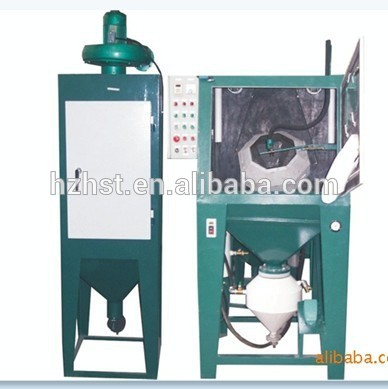 Automatic sandblaster for blasting screws