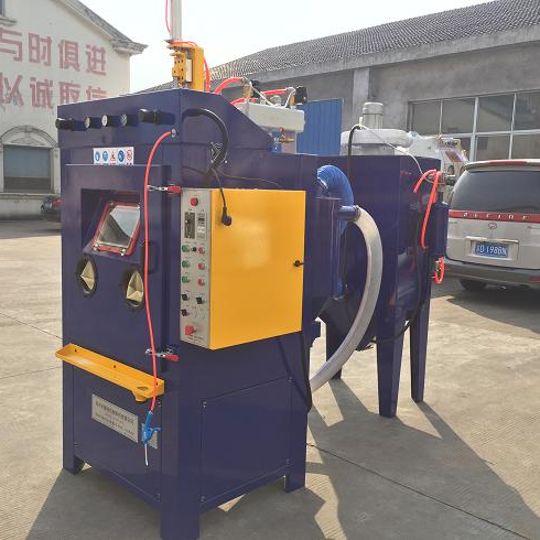 Auto drum sandblasting equipment for blasting nails