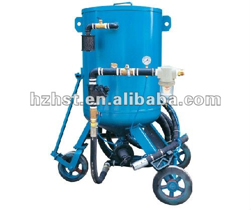 Mobile shot blasting equipment