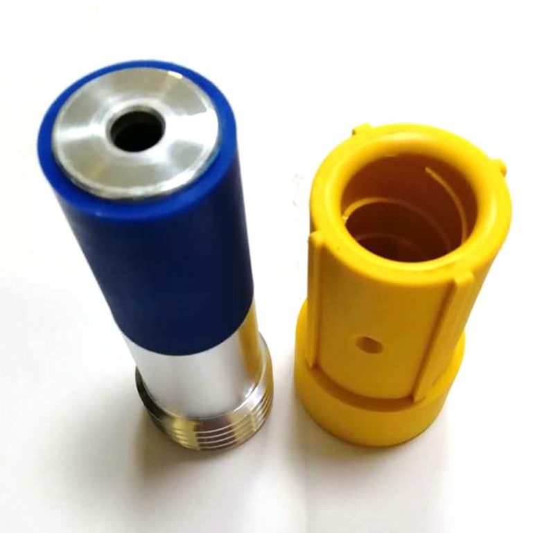 High quality Venturi boron carbide nozzle high pressure sandblast gun 1 1/4'' with plastic jacket for blasting pot