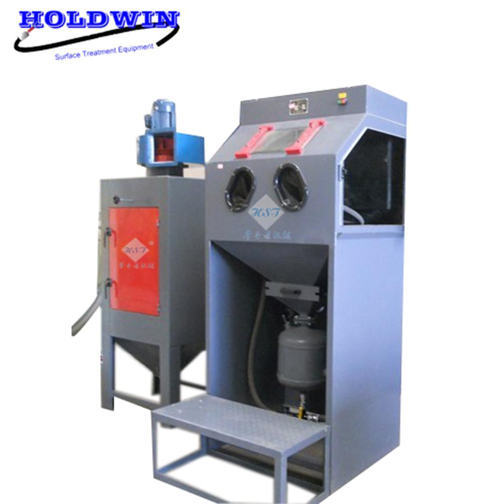 Pressure sandblasting cabinet with turntable