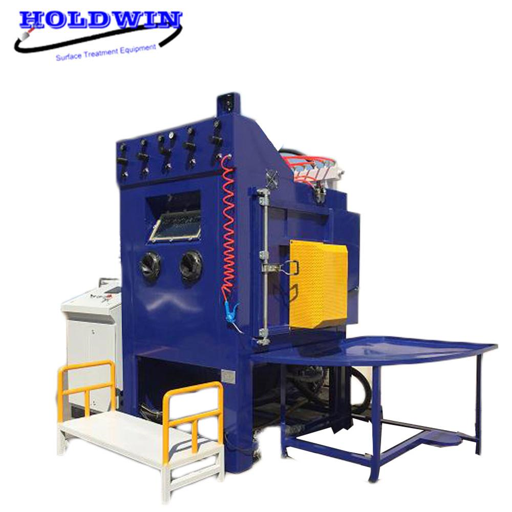 Holdwin CE Wet Turntable Sandblaster Cabinet Water Sandblasting Machine Automatic Sandblast Equipment