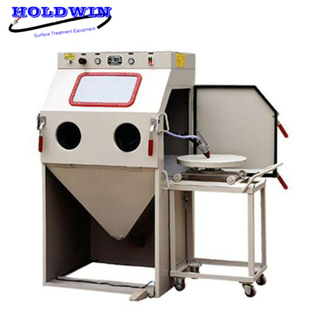 Mini standard dry sand blasting cabinet equipment