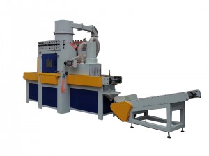 Conveyor belt automatic Sand blasting Equipment Pan plate sandblasting machine