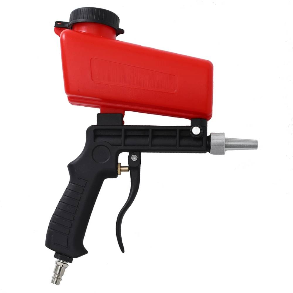 Portable Sandblasting Guns 90psi Adjustable Small Blasting Machine Derusting Sandblasting Spray Set Featured Image