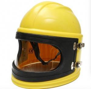 Sandblast helmet with filter Temperature regulator