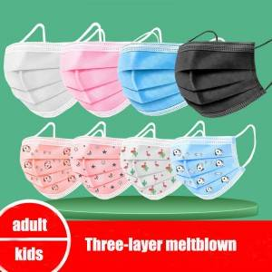 Disposable Kids Mask With Printing