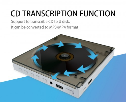 DVD CD player mini portable home dvd player with BT FM USB speaker function