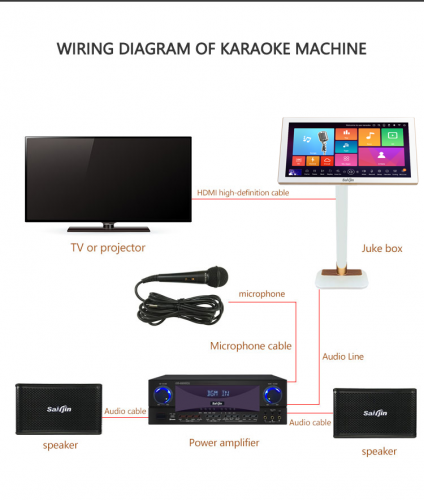 4K karaoke system machine hdd jukebox player portable all-in-one singing videoke