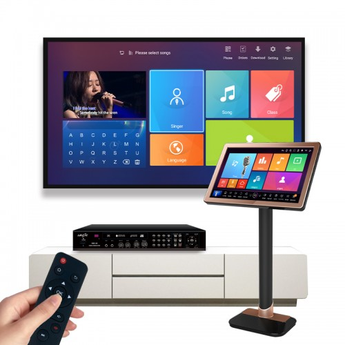 4K karaoke player system Android ktv box with touch screen ktv package