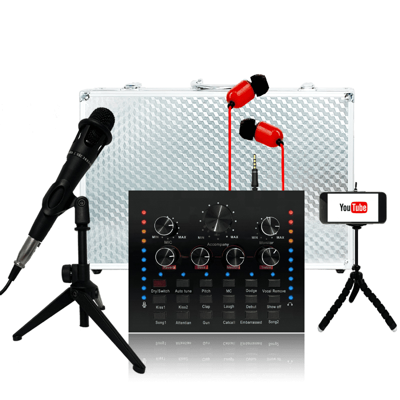 Audio set soundcard bluetooth function for Pc mobile sing live sound card Featured Image