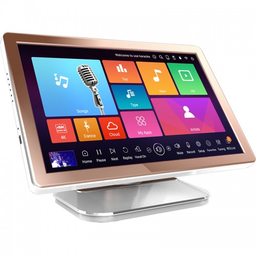 21.5inches karaoke system machine hdd jukebox player portable all-in-one singing videoke