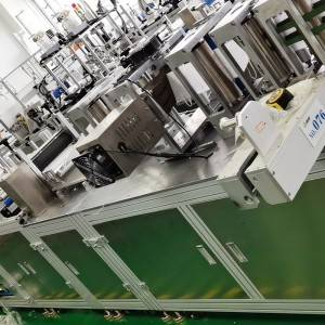 Automatic high speed nose printing folding mask machine