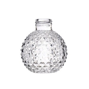 Renewable Design for Glass Beehive Jar - Wholesale Custom Transparent Round Diffuser Aromatherapy Glass Bottles  – Sogood