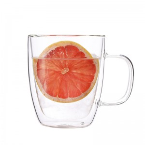 China Cartoon Glass Cup Factory - Manufacture borosilicate double wall glass tea coffee cup with handle – Sogood