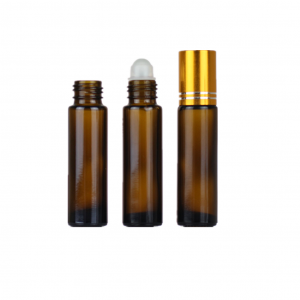Amber essential oil roll on bottle