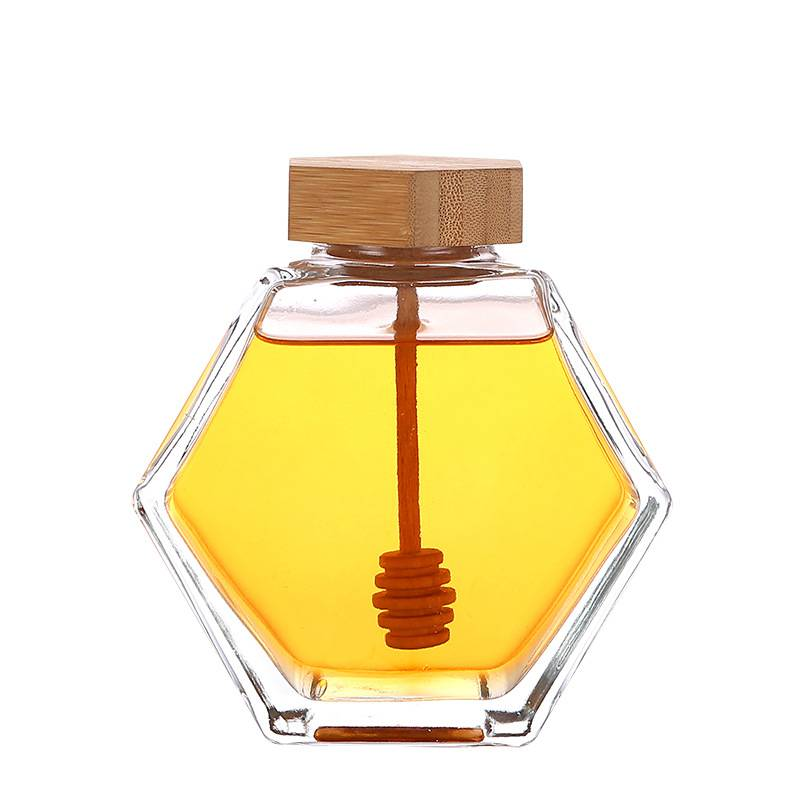 Hexagon honey scented bottle
