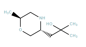 3-Morpholineethanol, α,α,6-trimethyl-, (3R,6S)-rel-