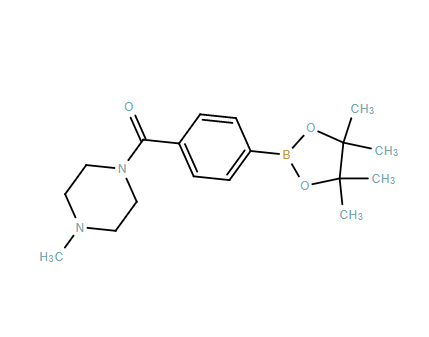(4-Methylpiperazin-1-yl)(4-(4,4,5,5-tetramethyl-1,3,2-dioxaborolan-2-yl)phenyl)methanone