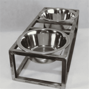 luxury raised dog feeding bowl slow feeder water bowl stand(A)