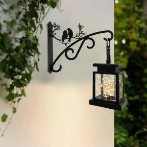 BIRD shaped metal plant hanger Lantern holder Birdhouse rack