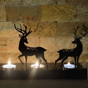 Decorative DEER Metal Candle holder