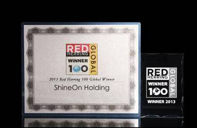 Shineon selected as a 2013 red herring top100 global