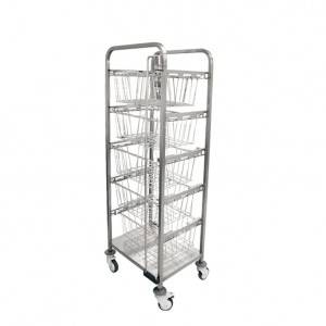 Single-row basket trolley