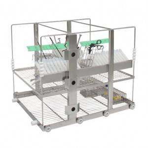 Minimally invasive surgical instruments washing rack