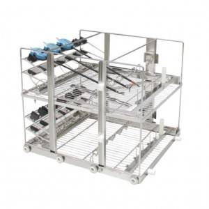 Surgical robot operation arm washing rack