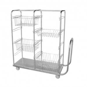 Double-row basket trolley