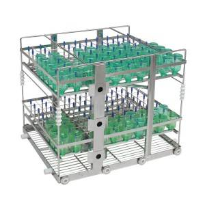 Humidification bottle washing rack