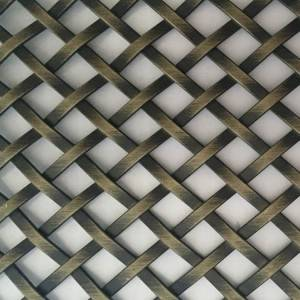 XY-3510XG Antique Brass Flat Wire Mesh Panel for Cabinet