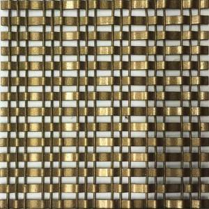 XY-1513P Bronze Paint Decorative Mesh for Glass