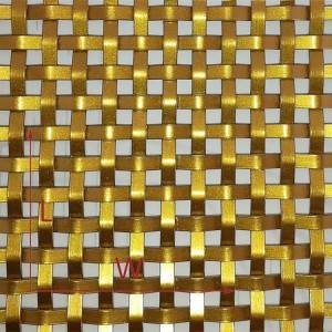 XY-3310P Golden Flat Wire Mesh for Kitchen Furniture Door