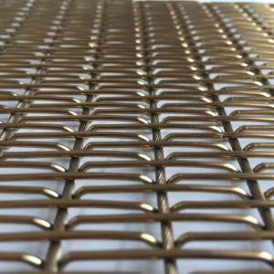 XY-M2175G PVD Woven Wire Mesh for Decoration