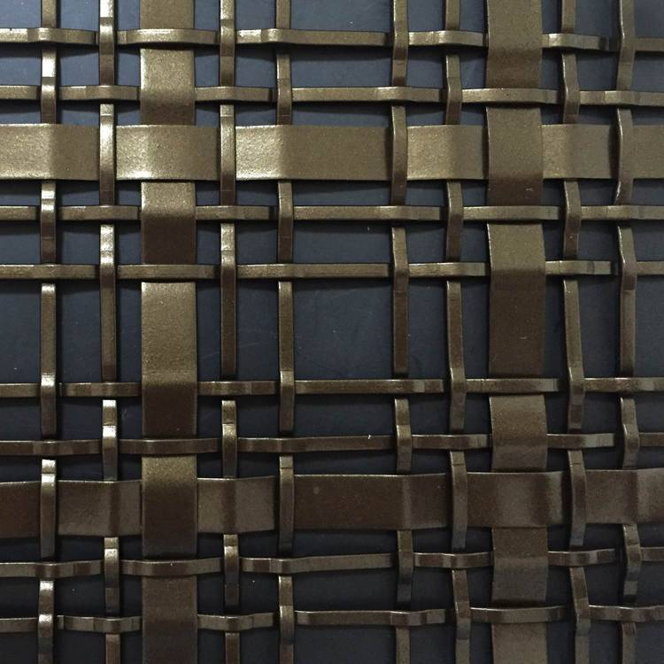 Stainless steel flat wire woven mesh screen (1)