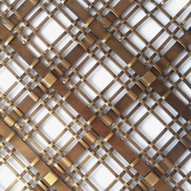 Gold Metal Mesh Panel for Luxury Furniture Decoration (1)