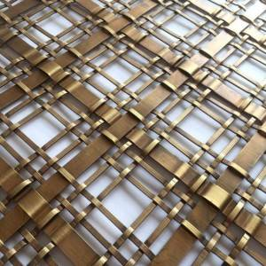 XY-2414G Gold Metal Mesh Panel for Lunxury Furniture Decoration