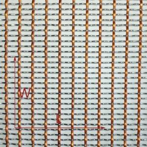 XY-0815 Decorative Woven Wire Mesh for Screen