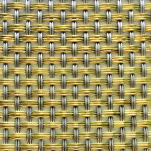 XY-T3B2 Brass&SS Decorative Crimped Wire Mesh for Cabinet Door
