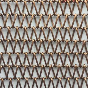 XY-A1215B Brzone Decorative Plate Flat Wire Crimped Mesh