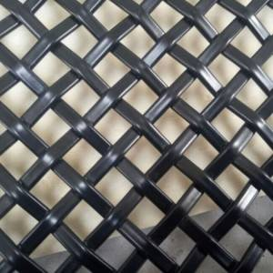 XY-1510PVC Black Powder Coated Woven Mesh for Ceiling
