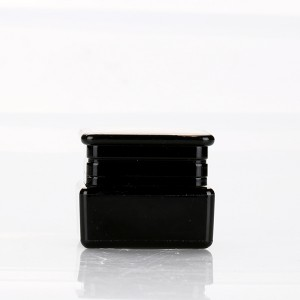 5g color uv gel plastic containers wholesale high quality black acrylic square cream jar