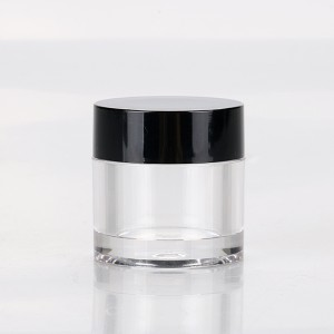 7g AS cream jar container luxury nail powder small containers plastic jar for cosmetics Hot sale products