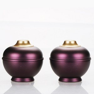 5g luxurious custom purple cosmetic cream jar unique acrylic color gel nail polish container