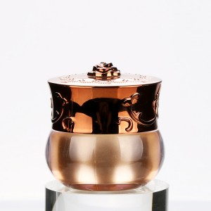 10g Rose Gold Acrylic Jars Nail Gel Containers Beautiful Eye Cream Packaging