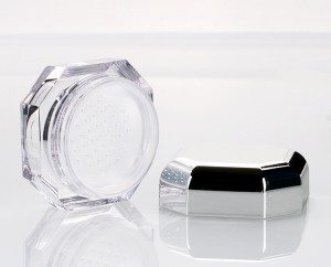 15g Double Wall Nail Polish Jars Transparent Acrylic Cosmetic Container with Silver Cap