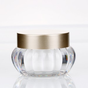 50g clear round plastic facial cream containers empty gel polish design jar for cosmetic