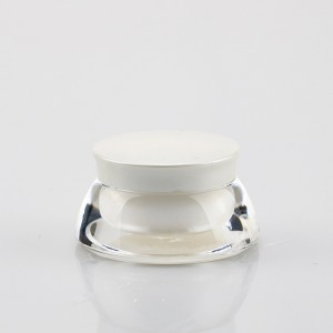 5g Clear Thick Wall Cosmetic Cream Jar White Plastic PP Liner Container